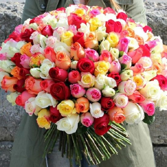 Colourful Roses mesmerize your loved one from juneFlowers.com