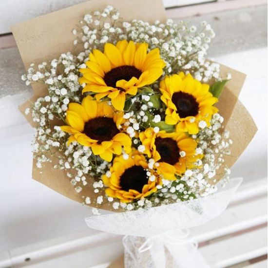 5 Stem SunFlower Bouquet