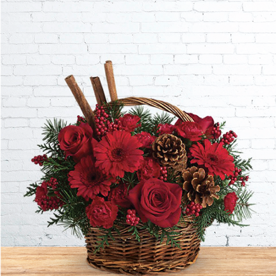Basket Arrangement for Christmas Wish