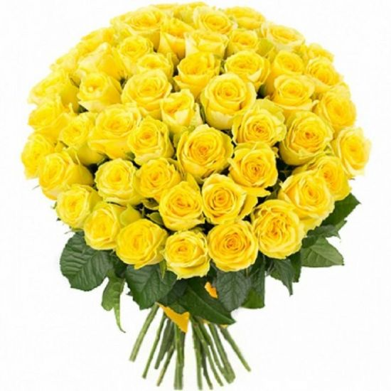 Peaceful Yellow roses hand tied Bouquet from JuneFlowers.com