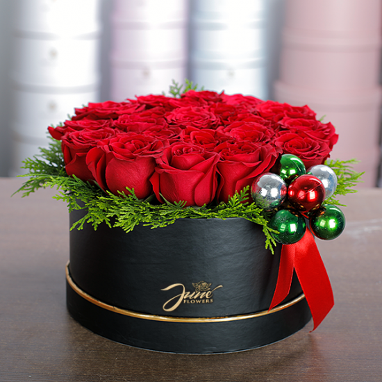 Box of Red Roses - Christmas Gifts