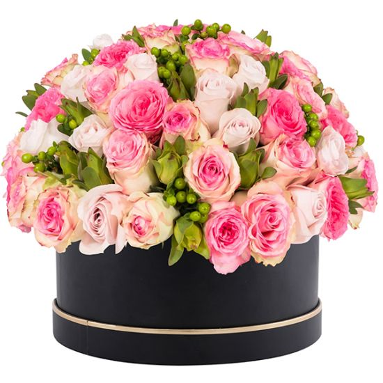 Signature Box of Pink Roses
