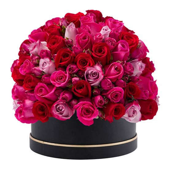 Signature Box of Lavish Pink Roses