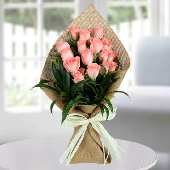 Sweet Pink Rose Bunch