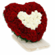 Lovely Red roses and White roses in a Heart shape from JuneFlowers.com