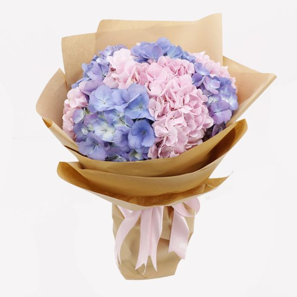 Beautiful Hydrangeas Bouquet Online Flowers Delivery In